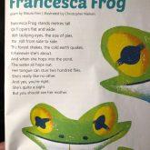 'Francesca Frog' makes the School Magazine…